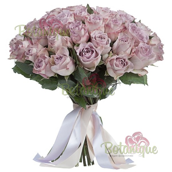 Букет сиреневых роз