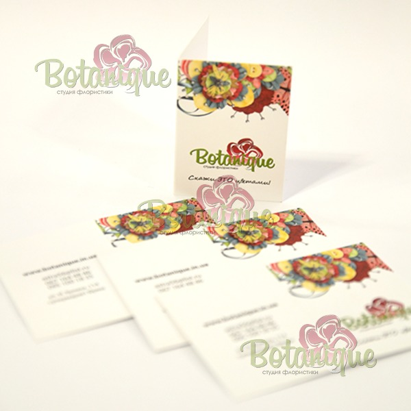 мини открытка Botanique